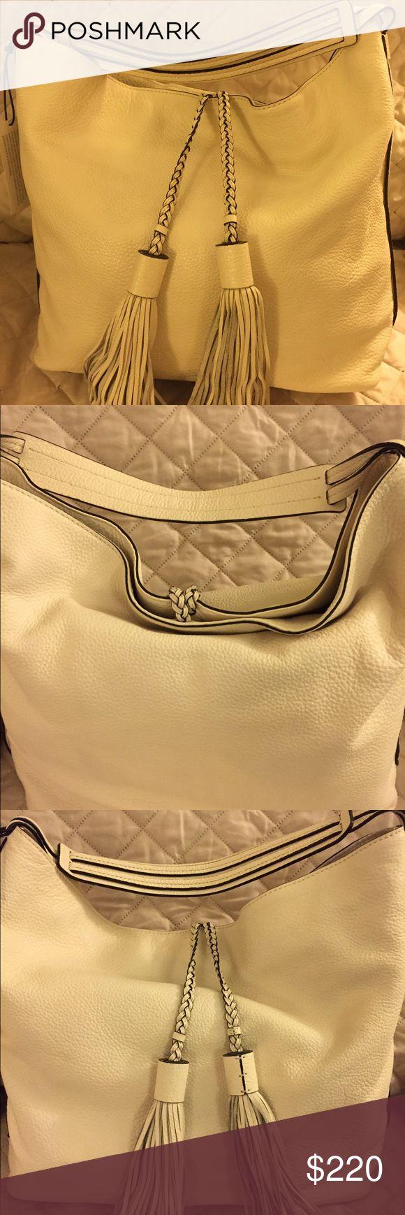 Rebecca Minkoff Isobel Hobo Shoulder Bag Rebecca Minkoff Isobel Hobo Shoulder Bag, antique white, lovely leather texture. Brand new. Magnetic closure on top. Rebecca Minkoff Bags Hobos