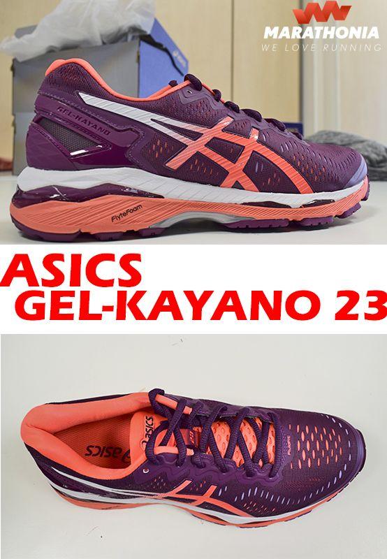 Con las zapatillas running ASICS GEL-KAYANO 23  para mujer podrás correr largas distancias. Excelente amortiguación y agarre para pronadores, máximo confort desde el primer km.-Drop de 10mm. -GEL-KAYANO 23, fabricadas para asfalto. Para más información haz click en la foto. #zapatillas #calzado #Asics #gelkayano23 #Kayano23  #running #deporte #shoes #marathonia #mujer