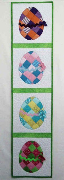 Easter Egg Shabby fabrics Table Runner kit