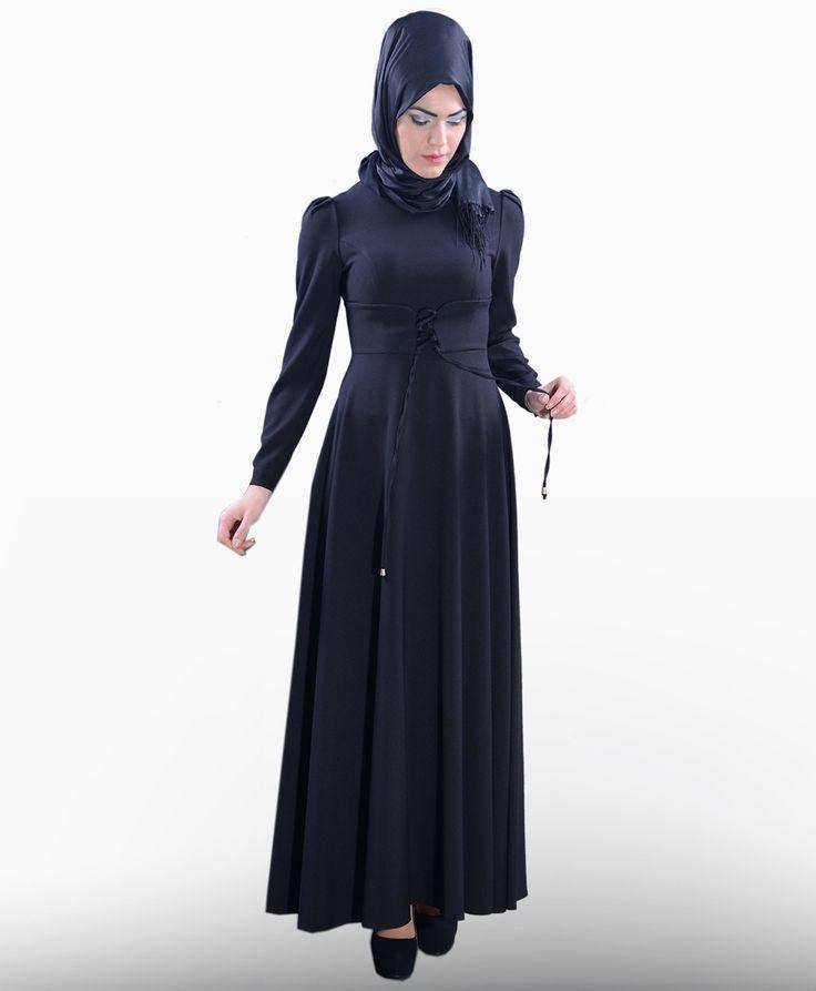 Beli Bağcıklı Elbise  - PL1000