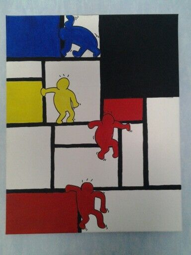 Keith Haring & Piet Mondriaan | some things i've made | Pinterest ...