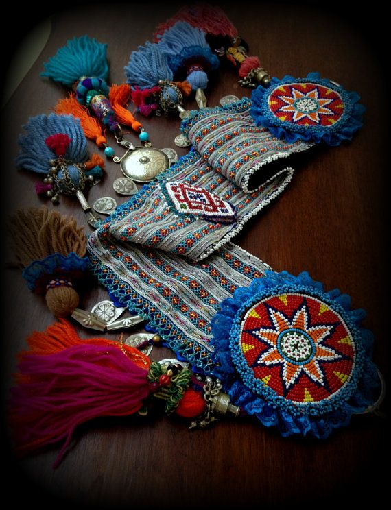 Tribal Belly Dance Belt with Tassels ATS Tassel by DancingTribe