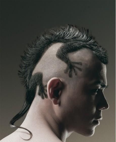 this is probably the most bad ass creative hair cut ive ever seen  id date a guy with this