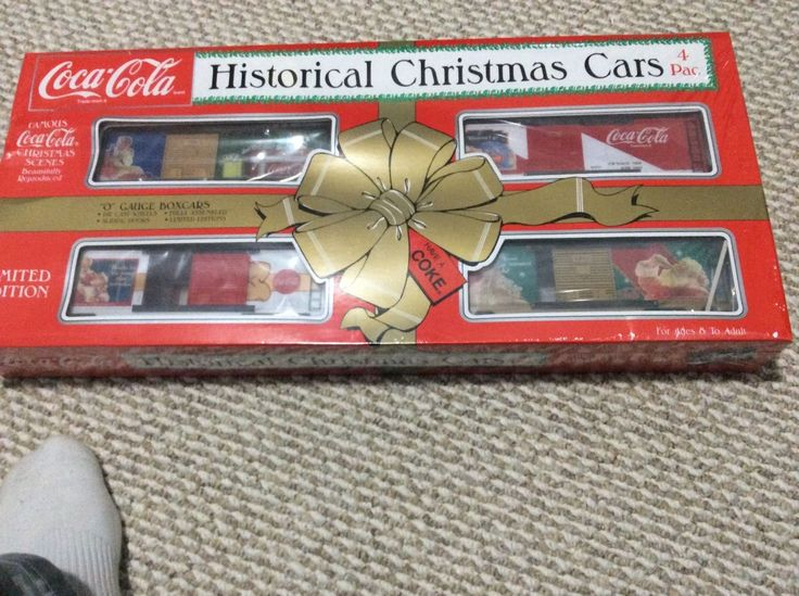 New Coca Cola Historical Christmas Cars 4 Pac 0 Gauge Train
