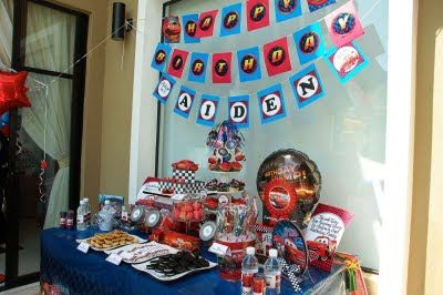 Dessert table. Lizzie as a Mummy: Raw Pictures from Aiden's Disney Cars 2nd Birthday!