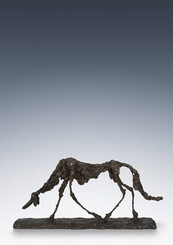 Lecture 9 -  Feeling with Our Eyes—Texture and Light:  Giacometti, Alberto. Dog. 1957. Bronze, 18 × 39 × 6 (45.7 × 99 × 15.5 cm). The Museum of Modern Art, New York.