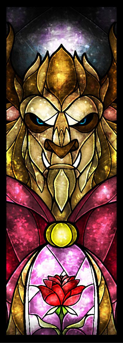 The Beast Stained Glass by Mandie Manzano