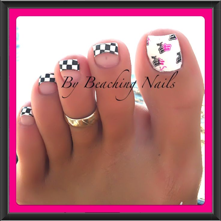 """Ready Set Race""  Nail Art"