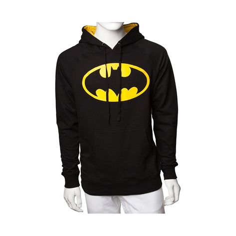 Shop for Mens Batman Pullover Hoodie, Black, at Journeys Shoes. Hit the streets in Caped Crusader style with the new Batman Pullover Hoodie! This super awesome cotton Batman Hoodie rocks the iconic bat signal printed on the front, featuring a color-pop hood lining, front kangaroo pocket, and adjustable drawstring hood. Available for shipment in October; Available only at Journeys!
