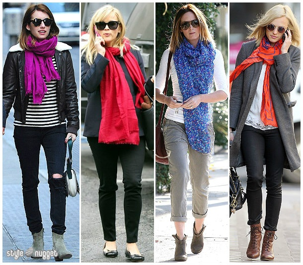 Spotted - Bright Statement Scarves
