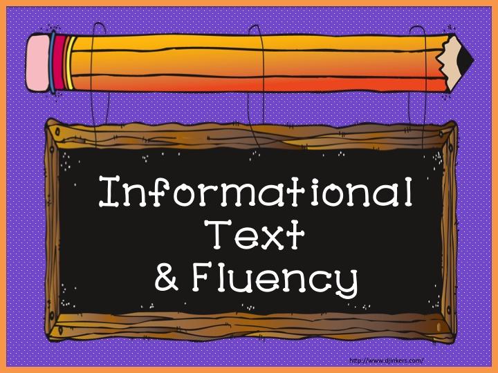 Teach123 - tips for teaching elementary school: Information text and fluency ideas