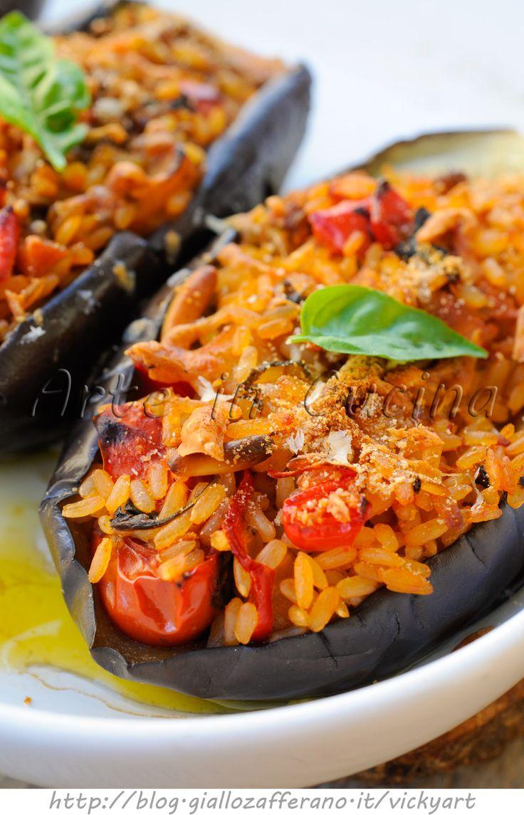 Melanzane ripiene stufate ricetta light facile vickyart arte in cucina