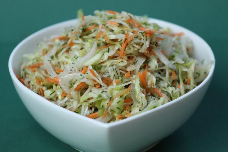 Pots and Frills: Basic White Cabbage Salad--Polish Cuisine Classic