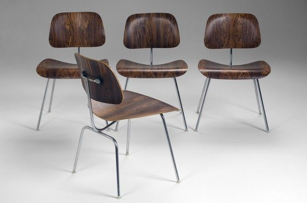 Eames DCMs in rosewood.