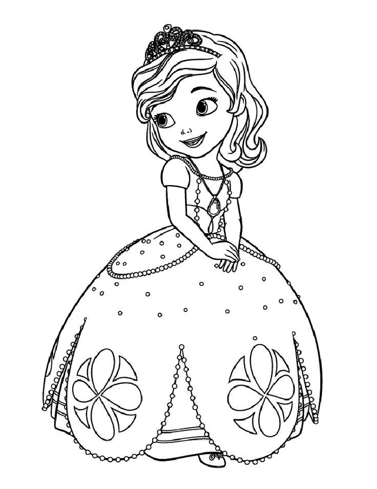 Coloriage Princesse à colorier - Dessin à imprimer | Coloriage princesse, Coloriage sofia ...