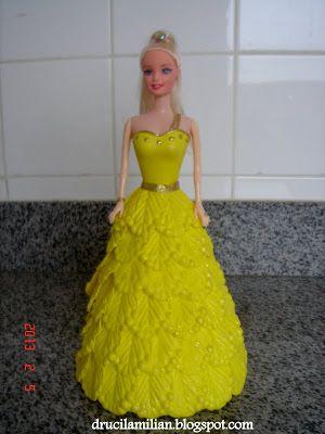 """Arteirices da Dru: PAP - Como fazer o molde da Saia Princesa de EVA para bonecas tipo """"Barbie"""" - Post 1"""
