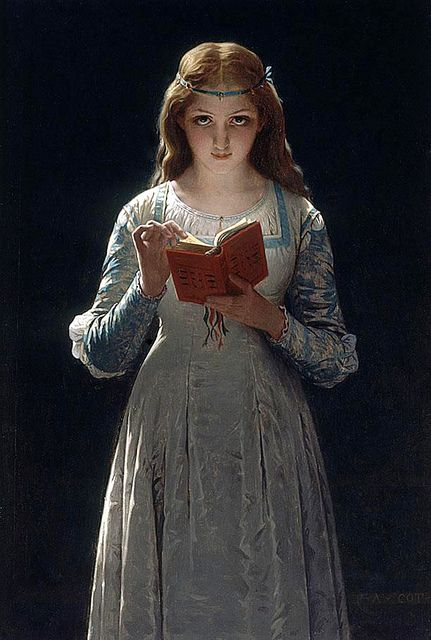 Pause for Thought (or Ophelia), 1870. Pierre-Auguste Cot (1837-1883). Oil on canvas. Private collection.