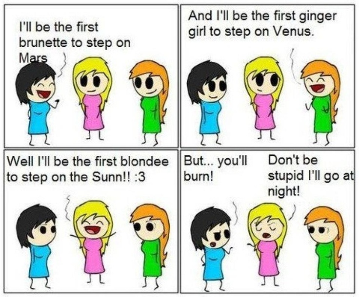 Blonde And Redhead Jokes