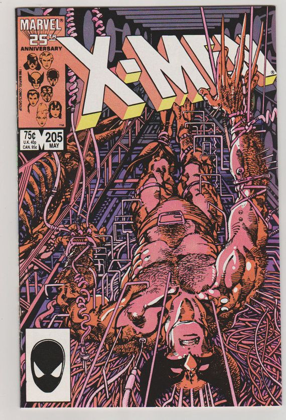Uncanny X-Men V1 205.  NM.  May 1986.  Marvel by RubbersuitStudios #wolverine #xmen #comicbooks
