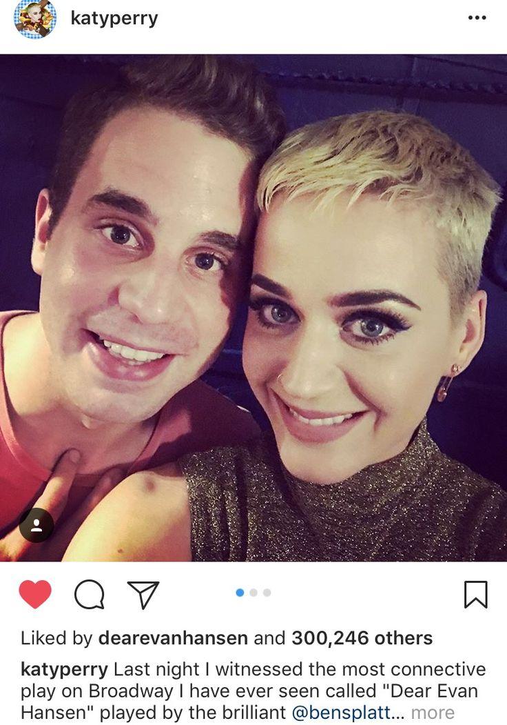 Katy Perry Ben Platt Dear Evan Hansen 4/29/2017