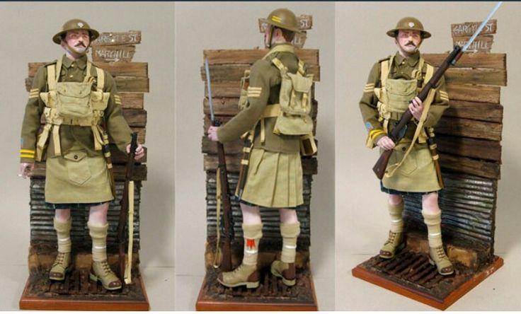 Sgt, Highland Light Infantry, 1918