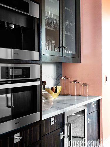 The power of glamour living rooms peach walls and dark wood - Peach color kitchen ...