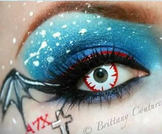 I love this! avenged sevenfold a7x inspired makeup...