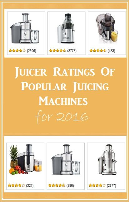 Juicer Ratings for 2016 http://juicerblendercenter.com/category/juicer-reviews/