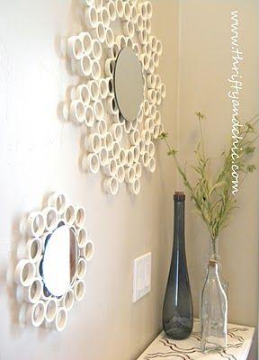 Espelhos com canos de PVC