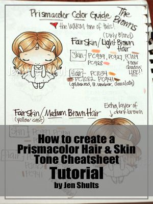 How to create your own Prismacolor hair and skin tone cheat sheet
