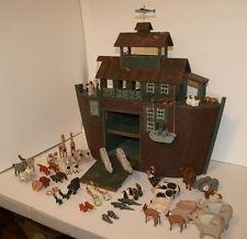 Millwood Toy Folk Artist Barry Grosscup Noah's Ark + 70 Animals - Signed