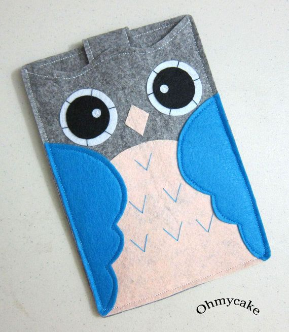 Handmade Felt Kindle Case  Kindle 3 Cover  Kindle Fire by ohmycake, $32.00