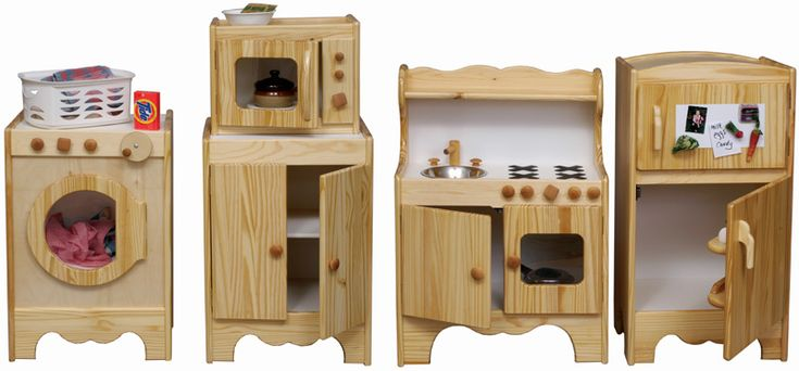 All Wood Kid 39 S Kitchen Set Made In Usa Hand Crafted Solid Wood Pretend Play Kitchen Set Ups