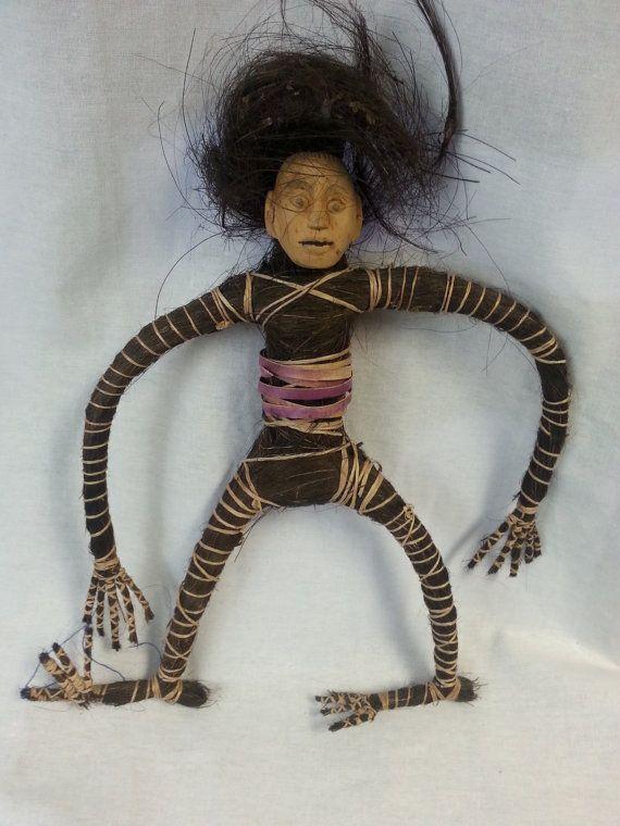 Vintage African Carved Voodoo Doll Creepy International