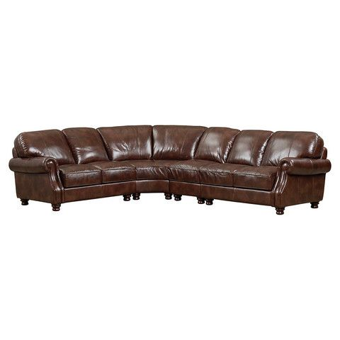 The Bassett Bradford Leather Sectional Is Made Up Of Top Grain With Solid Hardwood Frame And Webbing Seating Support System