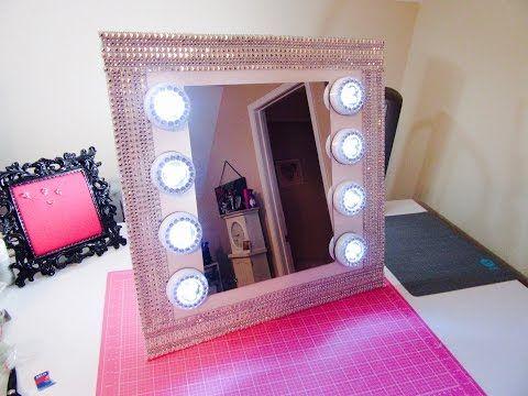 $13 Vanity Mirror -Dollar Tree w/extra bling - YouTube