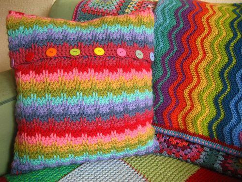 Rainbow Raindrops Cushion
