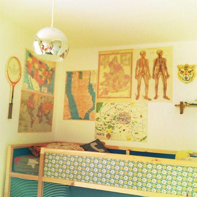 chambre enfant déco vintage