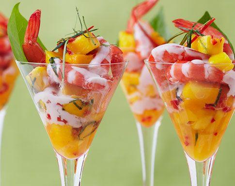 PRAWN MARTINI WITH MANGO SALSA Check out this recipe: http://goo.gl/bfMvzy  #mangorecipes   #mangoes   #summerrecipes   #easyrecipes   #dessertrecipes   #foodie