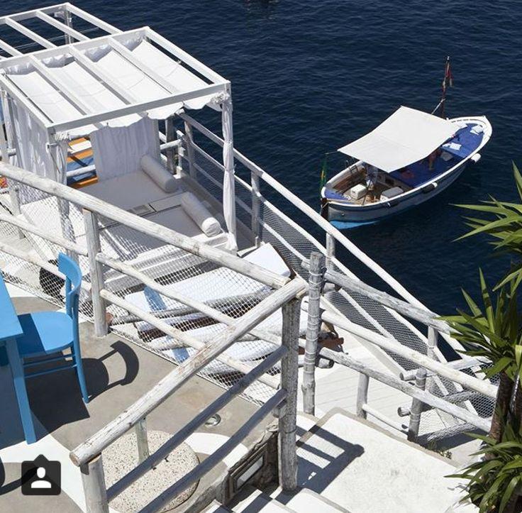 "Wooden Gozzo boat "" Mergellina"" @ Riccio Beach Anacapri"