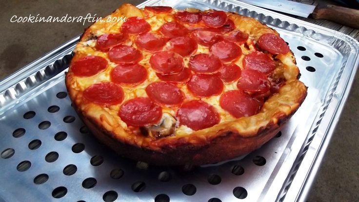Dutch Oven Deep Dish Pizza