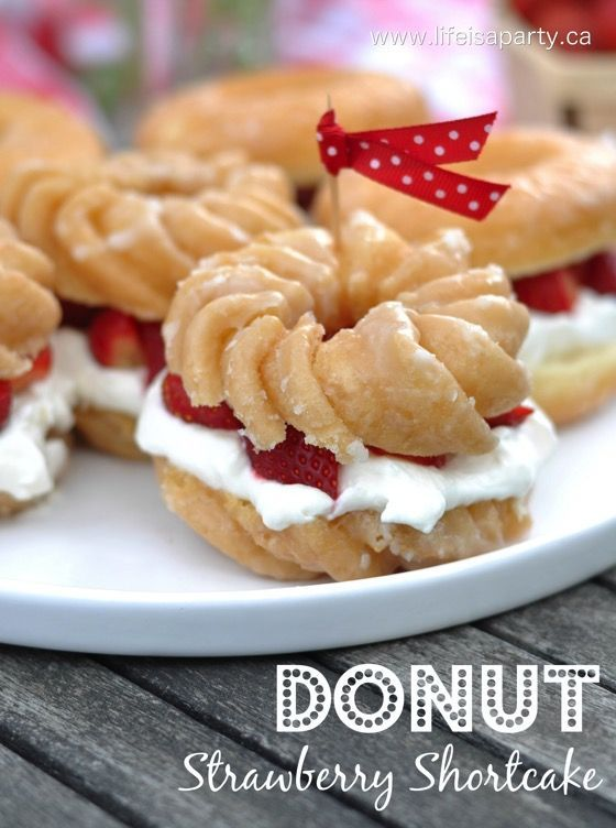 Donut Strawberry Shortcake -the easiest, best Strawberry Shortcake ever! You'll never go back to your old version after trying this one.