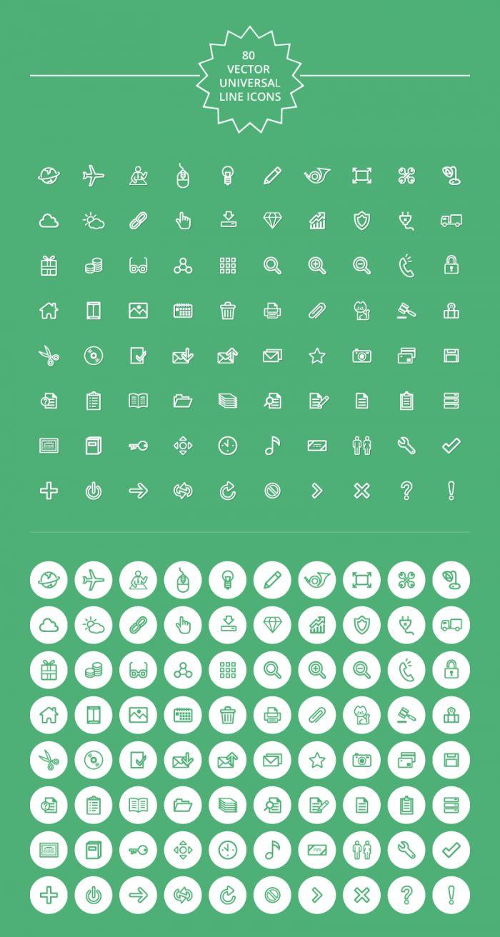 universal line icon set 700x1312