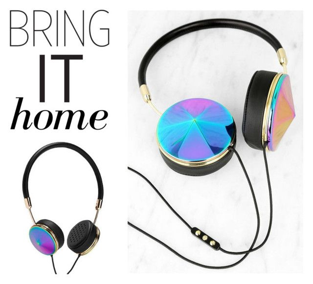 """""""Bring It Home: Frends Layla Headphones"""" by polyvore-editorial ❤ liked on Polyvore featuring interior, interiors, interior design, home, home decor, interior decorating, Frontgate and bringithome"""