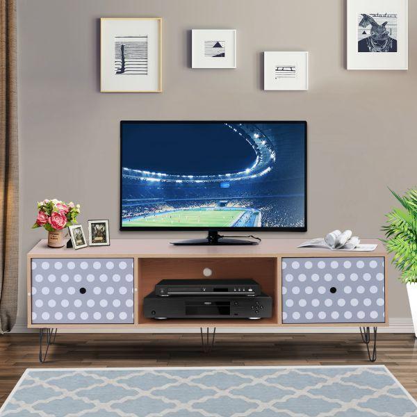 H4home Retro Tv Stand Industrial Furniture Media Storage Cabinet