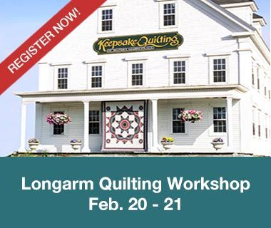 Longarm Quilting Workshop at our Center Harbor, NH shop