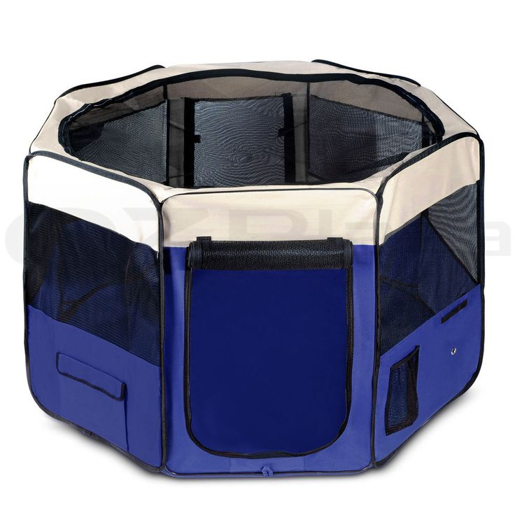 Pet Soft Playpen Puppy Dog Cat Play Pen Crate Cage Enclosure Tent Portable BU XL