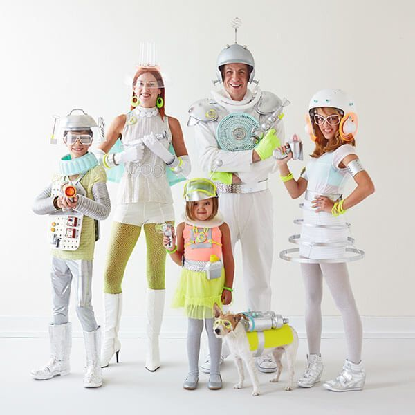 Looking for fun family Halloween costumes? See how to craft our simple DIY space family Halloween costumes using everyday items. They're far out fun!