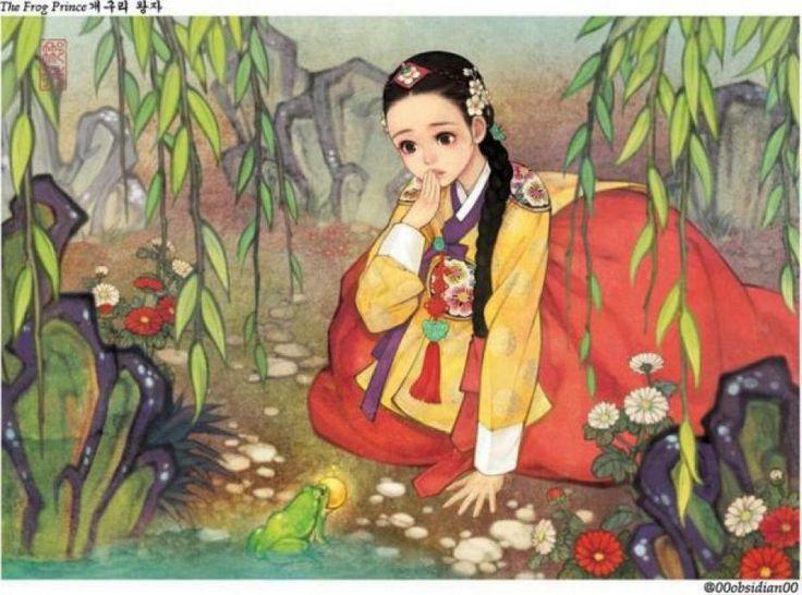 Corée, artiste, art, twitter, Na Young Wu, contes, fées, disney, princesses, blanche neige, belle, bête, chaperon rouge, loup, tigre, contemporain, asie, europe