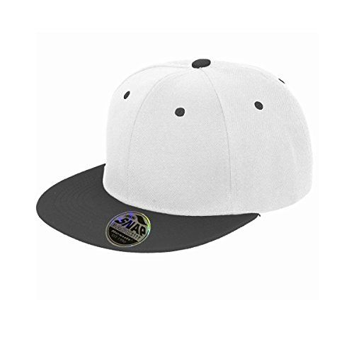 Result Unisex Core Bronx Original Flat Peak Snapback Dual Colour Cap (One Size) (White/Black) Windproof. Breathable. 6 panel. Stiffened front panels. Flat peak with 6 stitch lines. Contrast colour peak, stitched eyelets and button. Snapback adjuster. Tear away lab (Barcode EAN = 5054171452200) http://www.comparestoreprices.co.uk/december-2016-6/result-unisex-core-bronx-original-flat-peak-snapback-dual-colour-cap-one-size--white-black-.asp